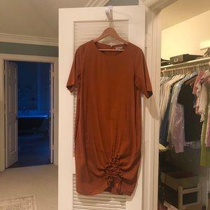 Good condition COS gathered hem dress. Size 10.